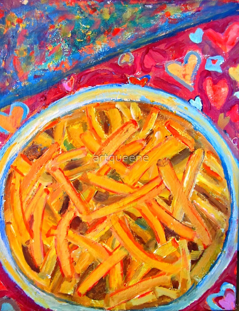 For the Love of French Fries by artqueene