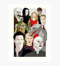 Buffy Big Bad Poster Art Print