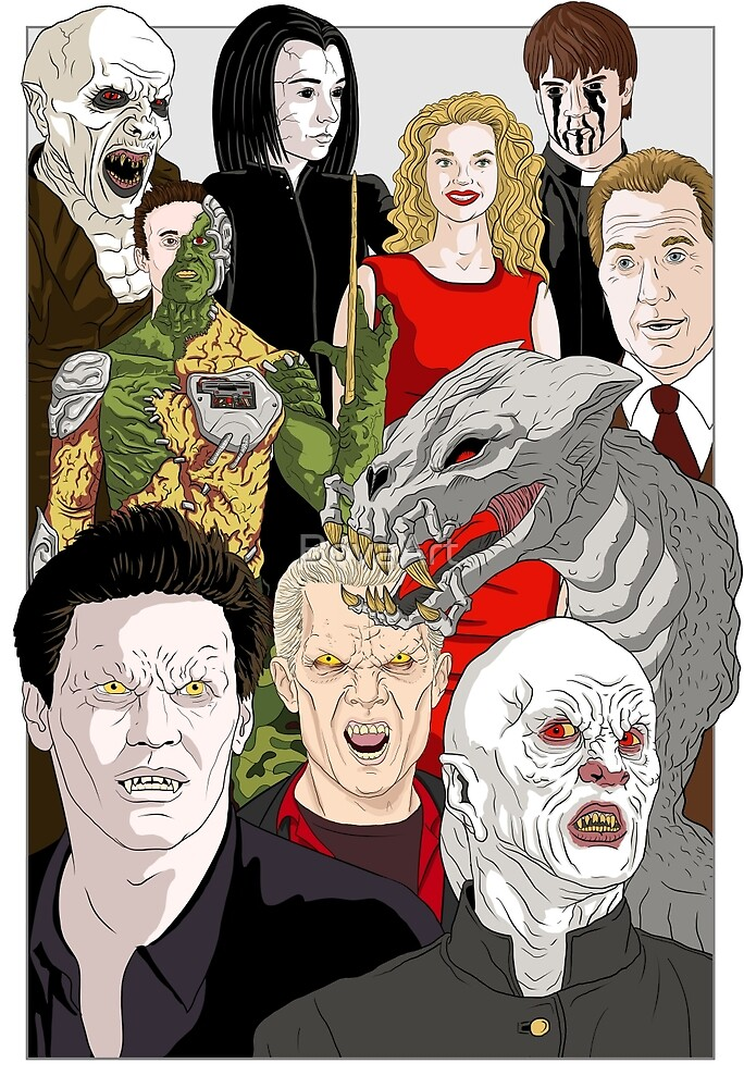 Buffy Big Bad Poster by BovaArt