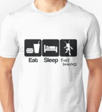 Eat Sleep Fight Heartless Unisex T-Shirt