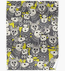 sweater mice chartreuse Poster