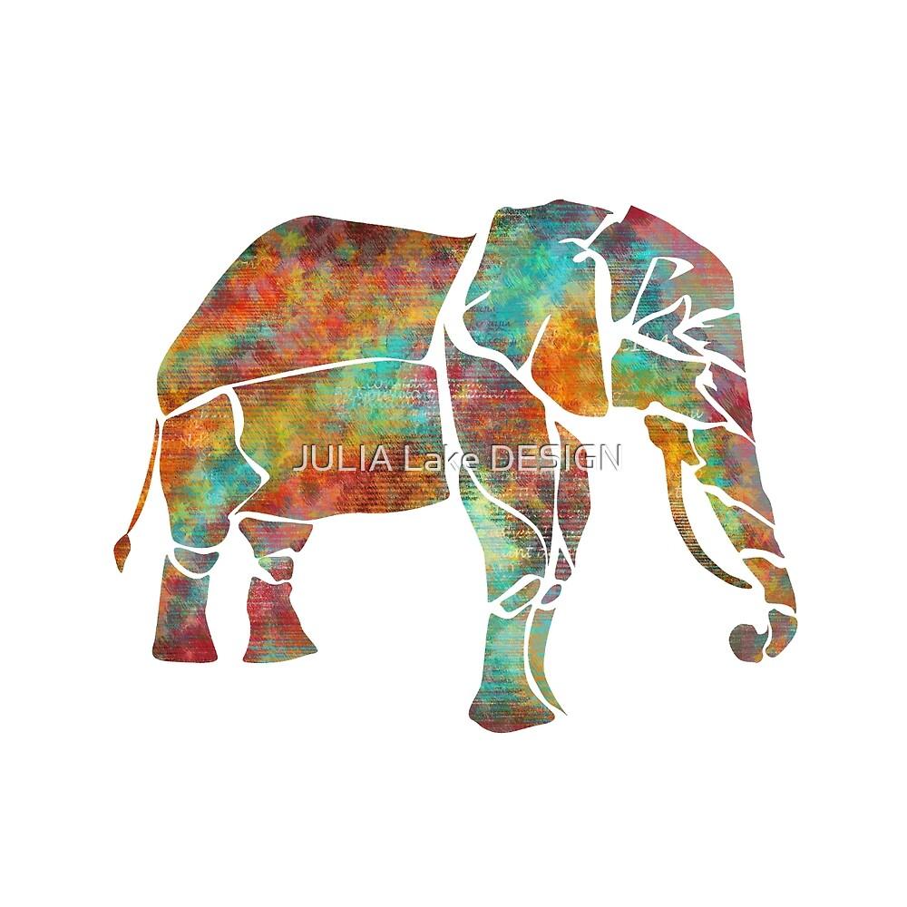 Color Elephant by JULIA Lake DESIGN