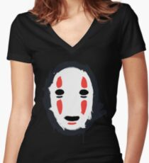 The Mask that Hides Women's Fitted V-Neck T-Shirt