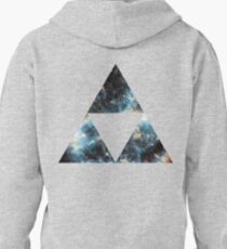 Exploding Nebula Triforce Pullover Hoodie