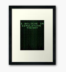 Simulation Theory Framed Print