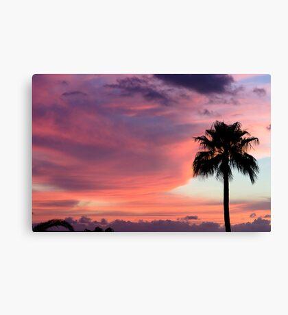 Sunset in Los Gigantes, Tenerife Canvas Print