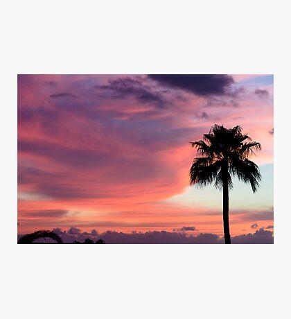 Sunset in Los Gigantes, Tenerife Photographic Print