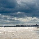 The sea at Bridlington, East Yorkshire by Thomas Tolkien
