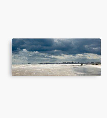 The sea at Bridlington, East Yorkshire Canvas Print