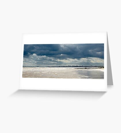The sea at Bridlington, East Yorkshire Greeting Card