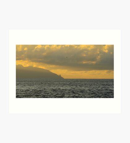 La Gomera from Tenerife Art Print