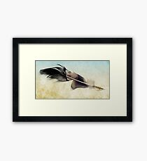 Memory of a quill Framed Print