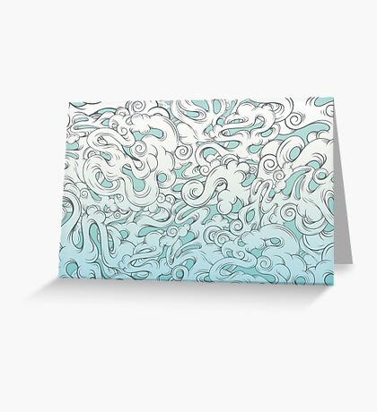 Entangled Clouds Greeting Card
