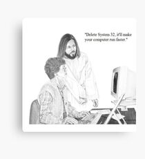 IT Tech Jesus Canvas Print