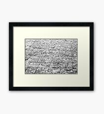US Mid West: Winter Fields Framed Print
