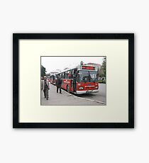 The bus in Adana Framed Print