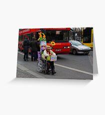 man on wheelchair Greeting Card