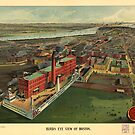Vintage Pictorial Map of Boston (1902) by alleycatshirts