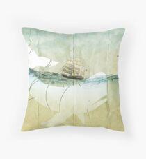 Moby Dick, the crusade Throw Pillow