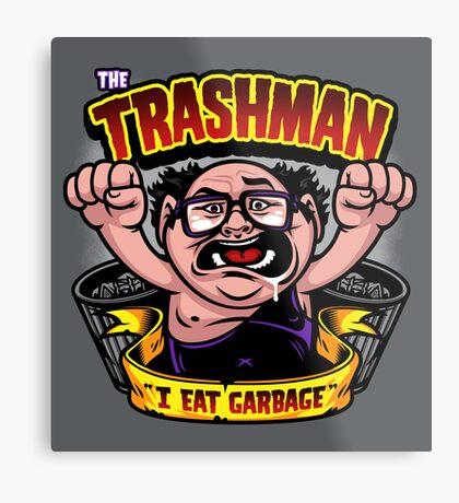 The Trashman Metal Print