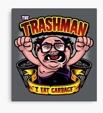 The Trashman Canvas Print
