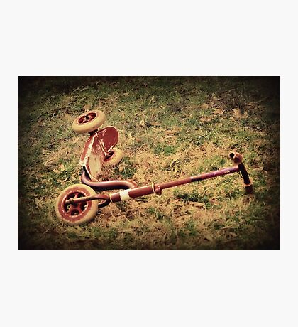 The Red Scooter Photographic Print
