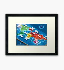 World Map in Isometric Framed Print