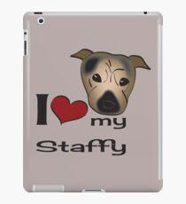 I love my staffy iPad Case/Skin