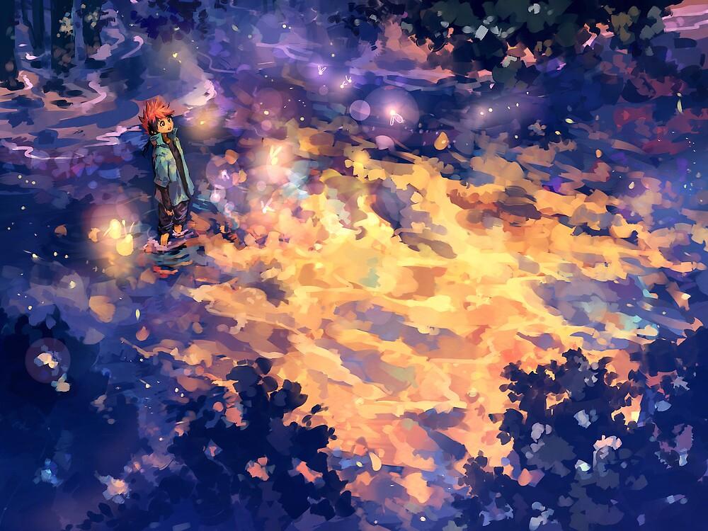 Fireflies by banafria