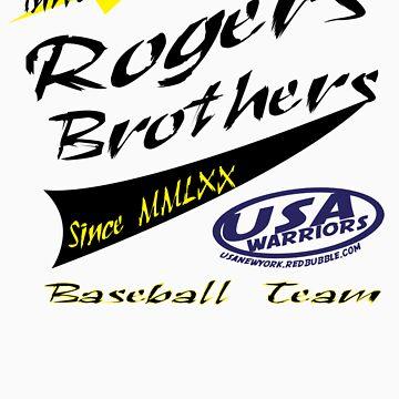 usa warriors baseball by rogers bros by usanewyork