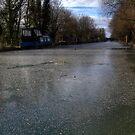 Frozen Canal in Berkshire by mlphoto