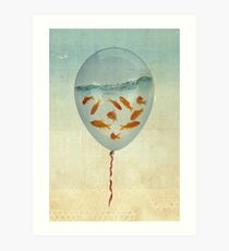 balloon fish 02 Art Print