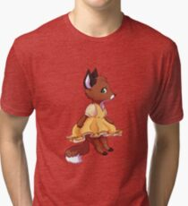 Cute fox girl Tri-blend T-Shirt