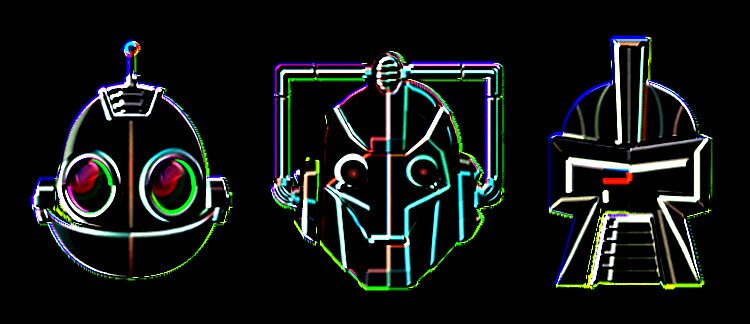 NEON ROBOTS by BIG-DAVE