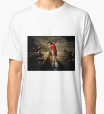 Siren - Surreal Ballerina in Red Classic T-Shirt