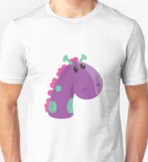 Sea Monster in Purple (head) Unisex T-Shirt