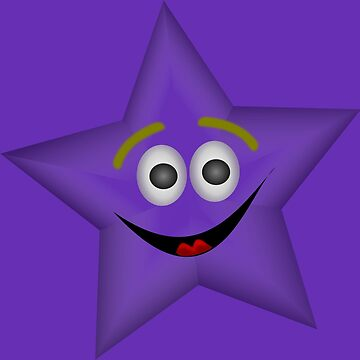 Purple Smiling Star by LittleCsDesigns