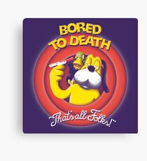 Bored to Death Canvas Print