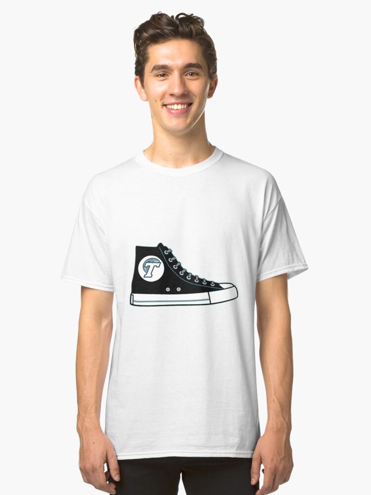 Tulane University Converse Sneaker Classic T-Shirt Front