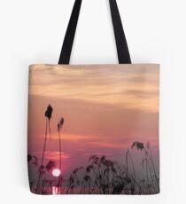 tramonto sul lago Tote Bag