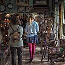 Girl in Antique shop by JohnBoyzo