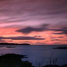 Sunset over Eyemouth by Sue Fallon Photography