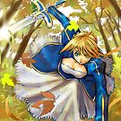 Saber  fate stay night by meomeo