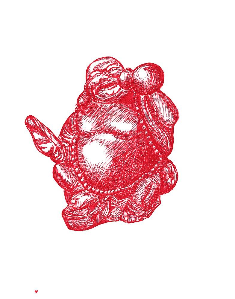 The Red Buddha by Matan Chaffee