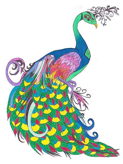 Rainbow Peacock by Riley J. Broadbent