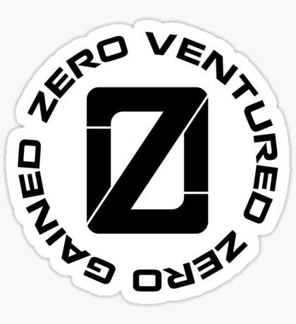 Zero Venture Zero Gained Infinite Loop Sticker