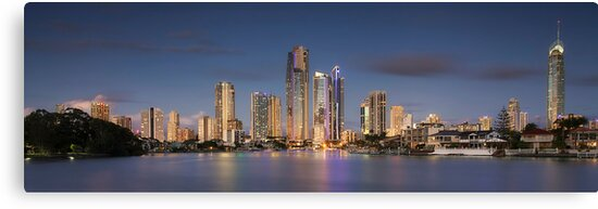 Surfers Paradise - The Glitter Strip Skyline by Maxwell Campbell