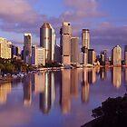 Brisbane City & River. Queensland, Australia by Ralph de Zilva