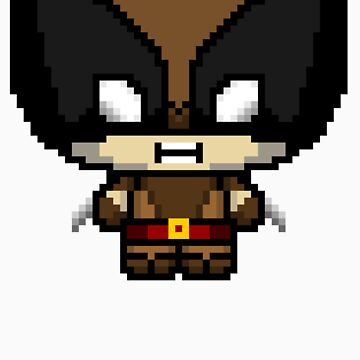 Chibit Wolvie (Brown) by GeekHQ