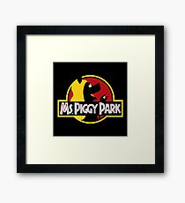 Miss Piggy Park Framed Print